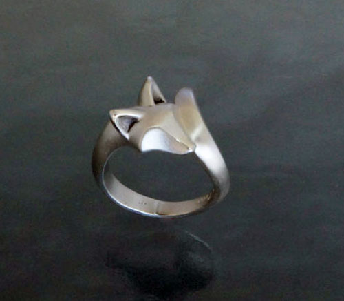 Baby Fox Ring in Sterling Silver