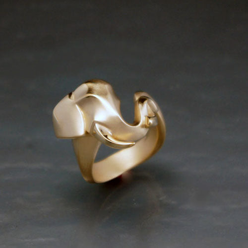 Elephant Ring in Bronze