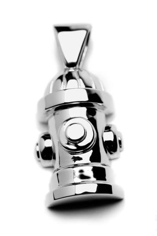 Fire Hydrant Pendant Necklace