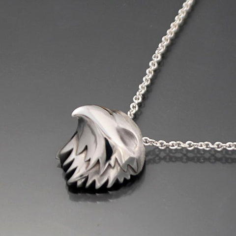 Raptor Pendant Necklace in Sterling Silver