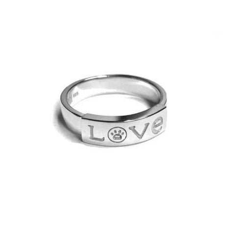 Paw Print LOVE Ring