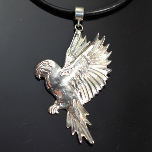 Parrot Pendant Necklace Sterling Silver