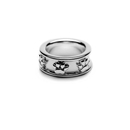 Band Paw Print Ring