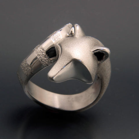 Raccoon Ring in Sterling Silver