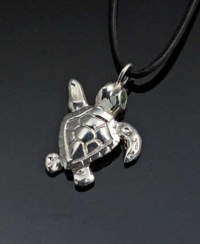 Sterling Silver Baby Loggerhead Turtle Necklace