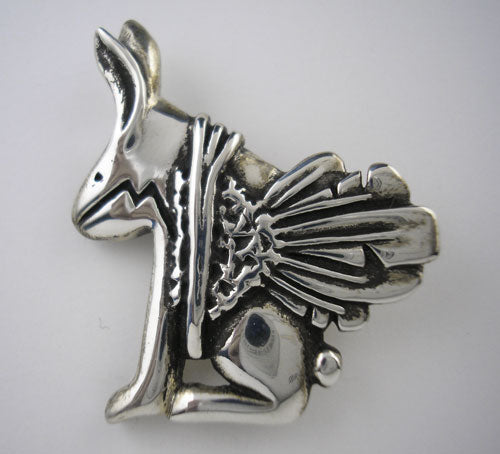 Southwest Style Bunny Pendant and Pin