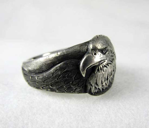 Bald Eagle Ring Sterling Silver
