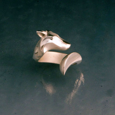 Timber Wolf Ring in Sterling Silver