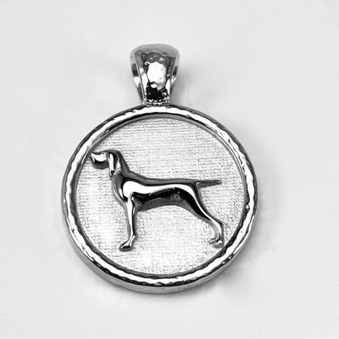Bracco Italian Pointer or Hunting Dog Pendant Necklace