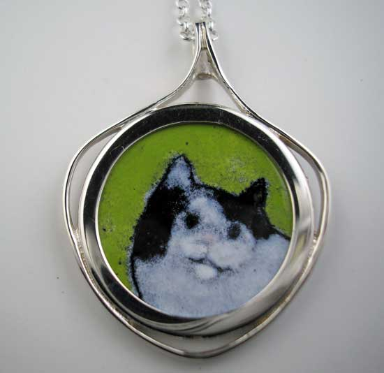 Black and White Cat Pendant