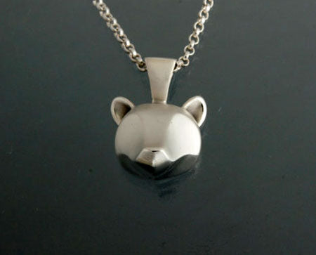 Grizzly Bear Pendant in Sterling Silver