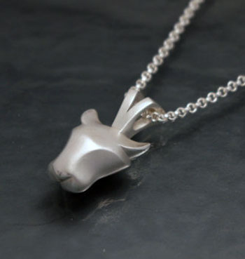 Jaguar Pendant Necklace in Sterling Silver