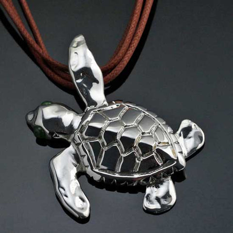 Loggerhead Sea Turtle Pendant Necklace