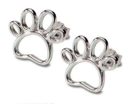 Outline Paw Print Earrings