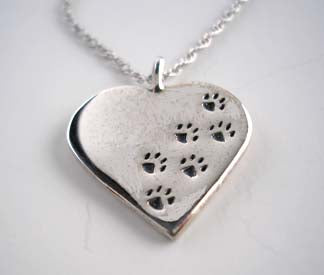 Paw Prints Across Your Heart Necklace
