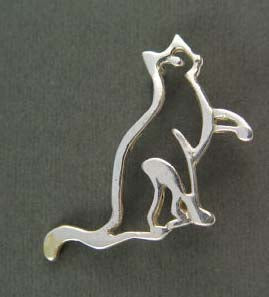 Zen of Please Cat Pin