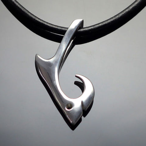 Shark Hook Pendant Necklace