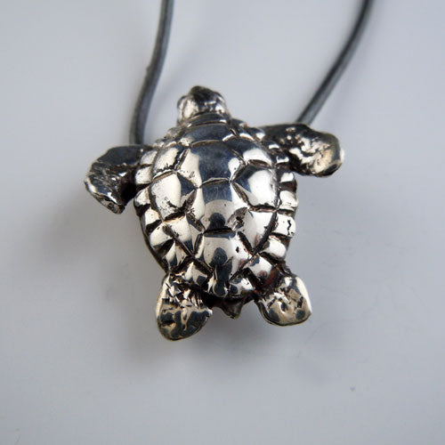 Turtle Necklace Sterling Silver