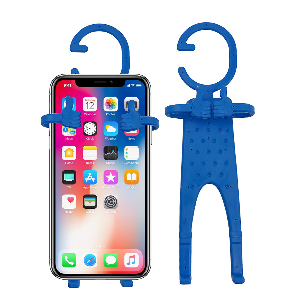 Multiple Use Flexible Cell Phone Holder,Great for Car Mount, GPS Navigation, Battery Charging, Desktop Stand, etc. (Blue)