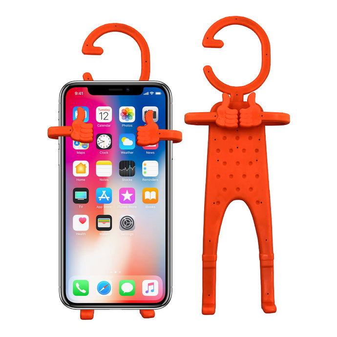 Multiple Use Flexible Cell Phone Holder,Great for Car Mount, GPS Navigation, Battery Charging, Desktop Stand, etc. (Orange)