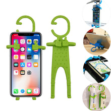 Load image into Gallery viewer, Multiple Use Flexible Cell Phone Holder,Great for Car Mount, GPS Navigation, Battery Charging, Desktop Stand, etc. (Light Green)