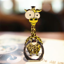 Load image into Gallery viewer, Cell Phone Finger Ring Holder Cute Animal 360 Swivel Smartphone Stand (Giraffe)