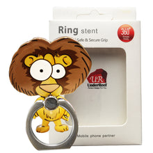 Load image into Gallery viewer, Cell Phone Finger Ring Holder Cute Animal 360 Swivel Smartphone Stand (Lion)