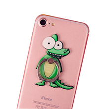 Load image into Gallery viewer, Cell Phone Finger Ring Holder Cute Animal 360 Swivel Smartphone Stand (Crocodile)