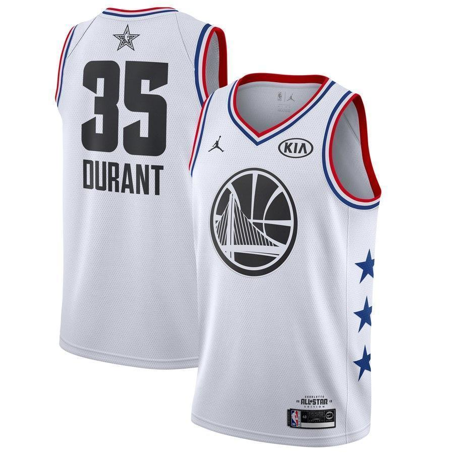 490ef7e350eb Golden State Warriors  35 Kevin Durant 2019 ALL STAR Swingman Jersey ...