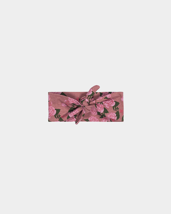 KNOT HEADBAND - ROSE FLORAL