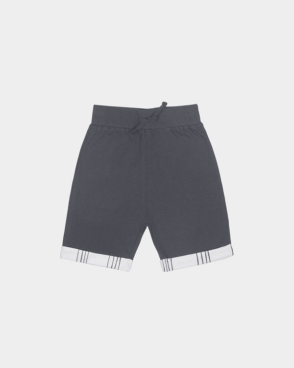 STRIPED SHORTS - GREY