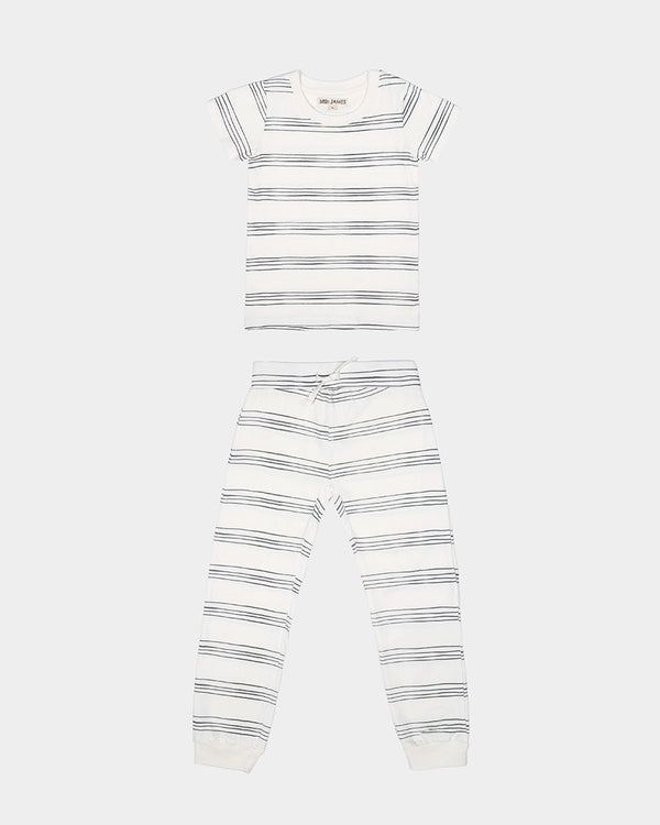 STRIPED PAJAMAS - IVORY STRIPE
