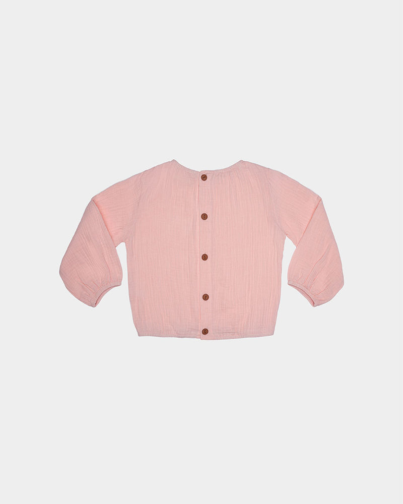 BREEZY BUTTON TOP - SUNSET PINK