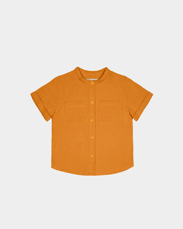 CABANA BUTTON UP - MUSTARD