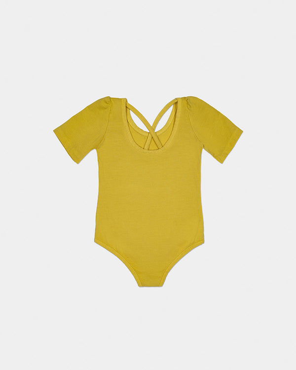 PARADISE STRAP BODYSUIT - SUNSHINE YELLOW