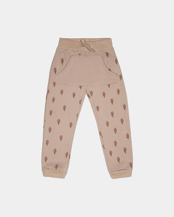 FRENCH TERRY JOGGER - BROWN CACTI