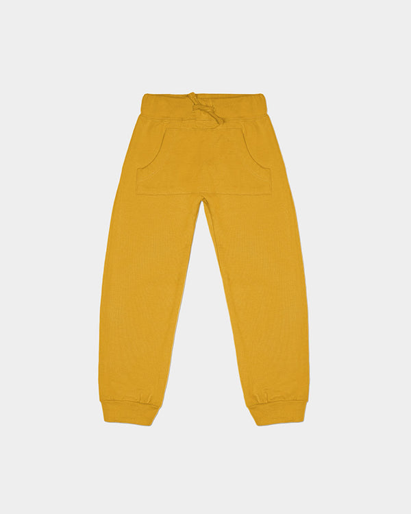FRENCH TERRY JOGGER - MUSTARD