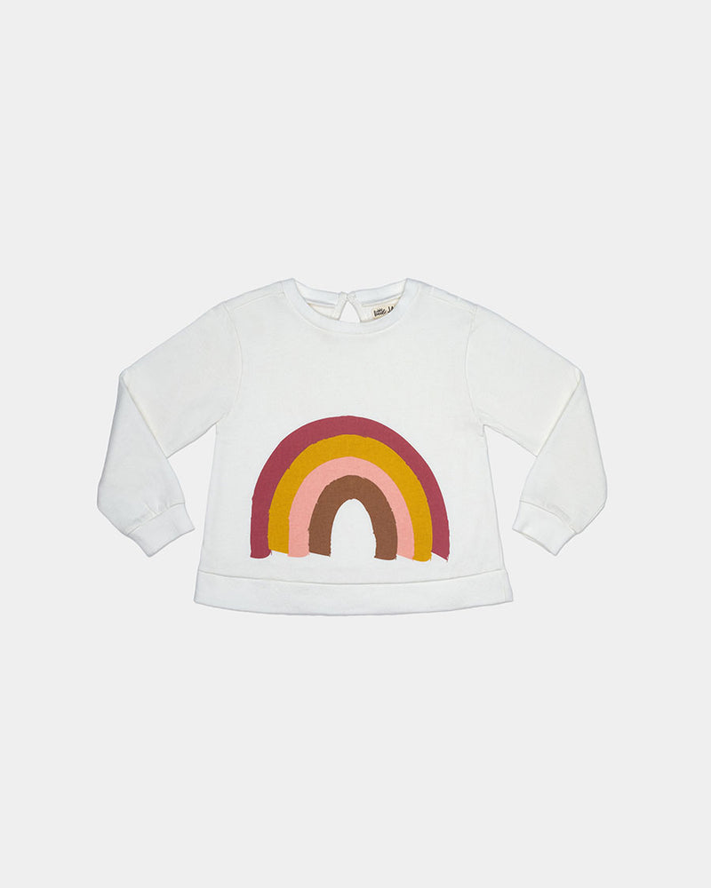 RAINBOW SWEATSHIRT - IVORY RAINBOW