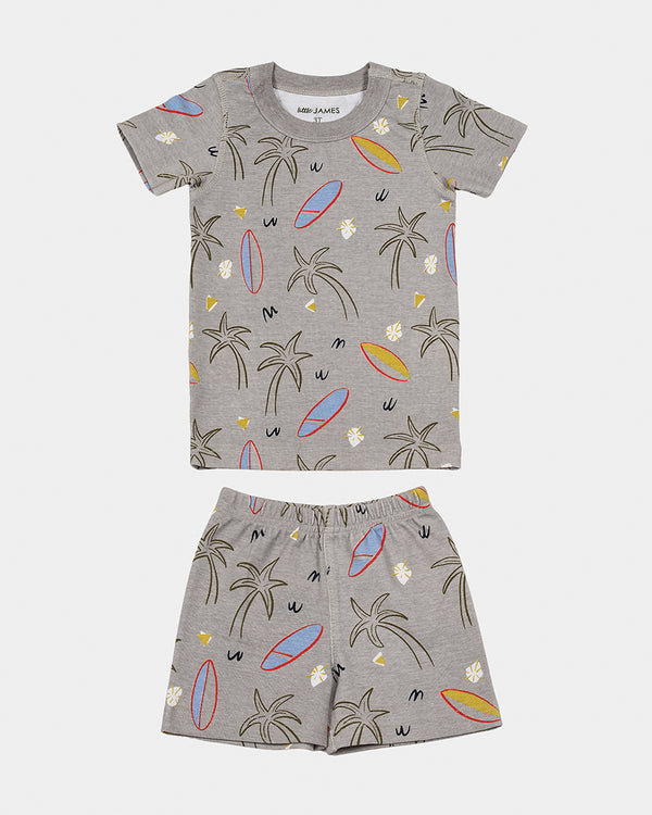 short-sleeve pajamas - surfboards