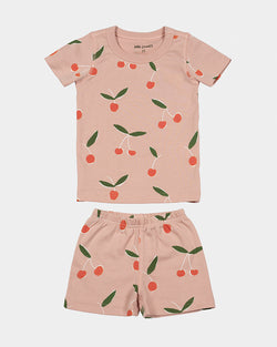 short-sleeve pajamas - citrus & cherries
