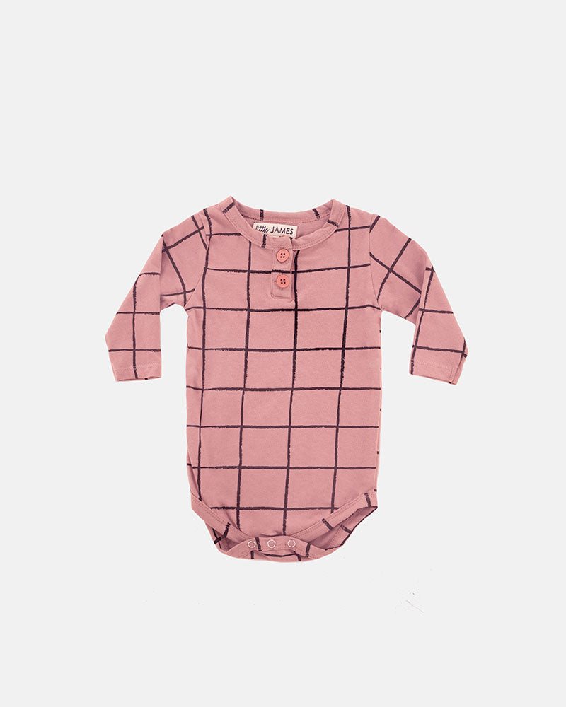 HENLEY ONESIE | GIRLS