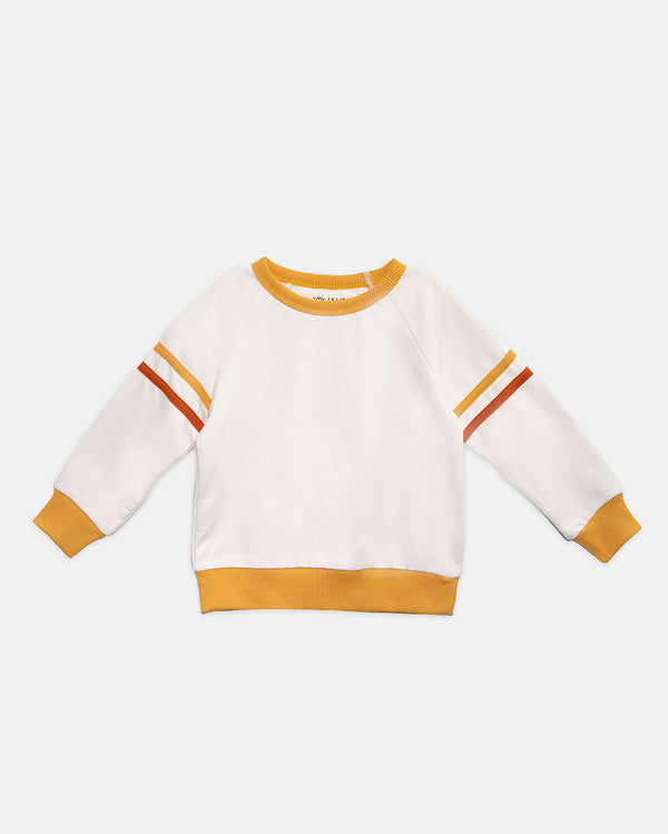 VIBES RAGLAN PULLOVER - ORANGE + YELLOW