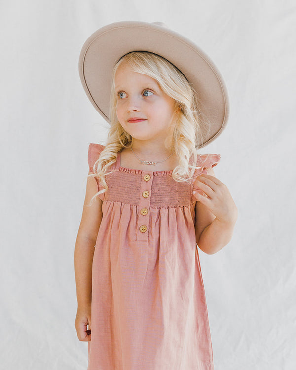 TEA TIME SMOCK DRESS - ROSE