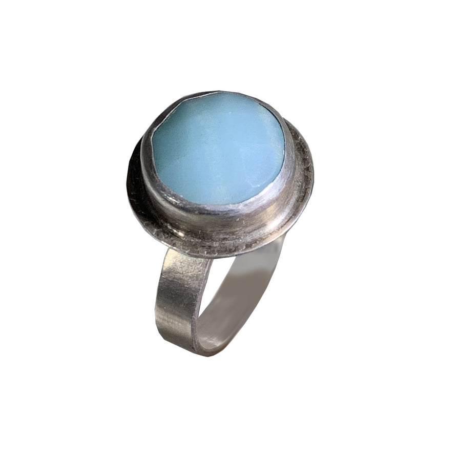 Sterling Bezel With Amazonite Ring