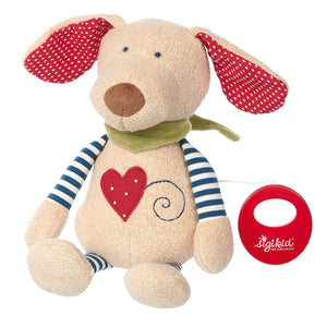 Sigikid Organic Dog with Music Box