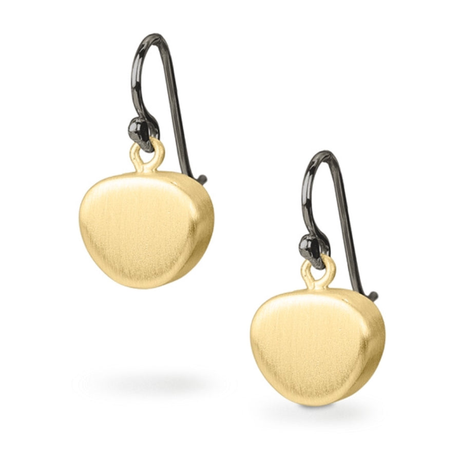 Pebble Earrings With 14k Matte Gold Finish