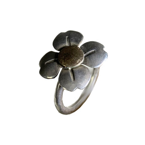 Sterling And Goldfill Dogwood Flower Ring