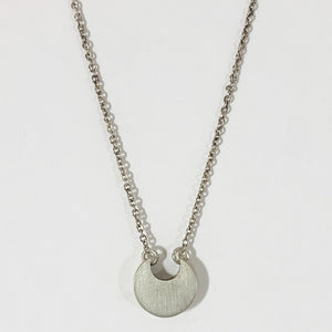Sterling Circle bud pendant on Small Sterling Chain