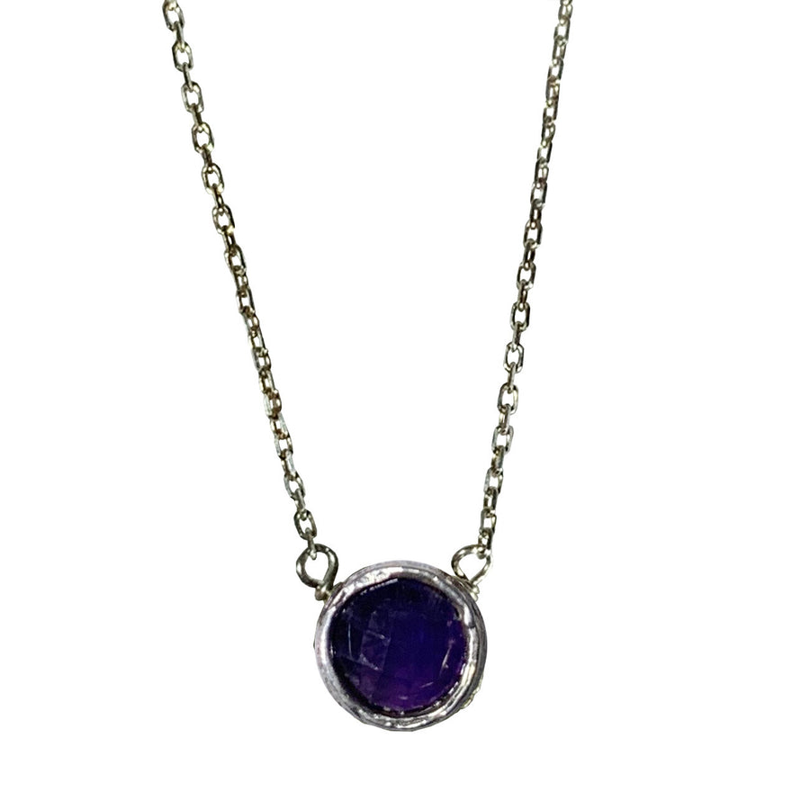 Amethyst and Sterling Pixie Necklace