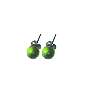 Apple Green Glass Globe Posts